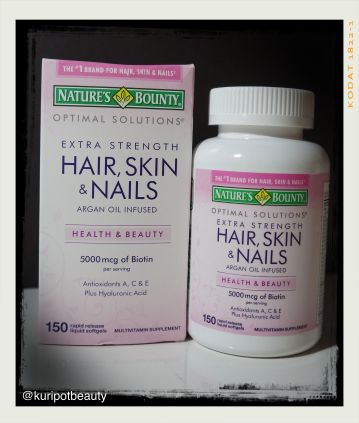 Beauty Inside Out: Nature\'s Bounty Hair, Skin, Nails Supplement ...